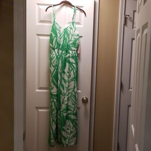 NWT Lilly Pulitzer romper green and white